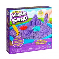 Набор песка для детского творчества -Kinetic Sand Замок Из Песка (фиолетовый, 454 г, формочки, лото 71402P