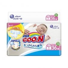 Подгузники GOO.N для новорожденных до 5 кг (размер SS, на