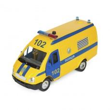 Автомодель - Газель Полиция (желтая, свет, озвуч. укр.яз.) CT-1276-17PU
