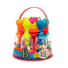 Игровой набор - Сверкающий боулинг (красный, 6 кеглей, шар