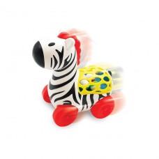 Игрушка на колесах - Веселая Зебра (звук трещотки) 56812