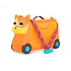 Детский чемодан-каталка для путешествий Котик-Турист LB175
