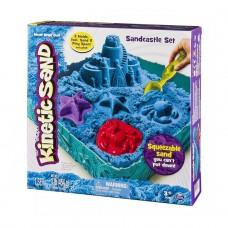 Набор песка для детского творчества - Kinetic Sand Замок Из Песка (голубой, 454 г, формочки, лоток) 71402B