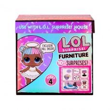 """Игровой набор с куклой LOL Surprise! серии """"Furniture"""" - Леди-Сахарок с тележкой сладостей 572626"""