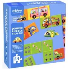 Детское двухстороннее домино -Транспорт, 24 части Mideer M