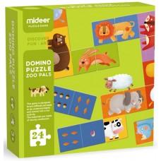 Детское двухстороннее домино- Животные, 24 части Mideer MD