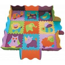 Детский коврик-пазл Веселый зоопарк с бортиком 122х122 см GB-M129А2E Baby Great