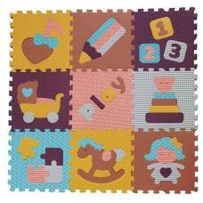Детский игровой коврик - пазл «Интересные игрушки», 92х92