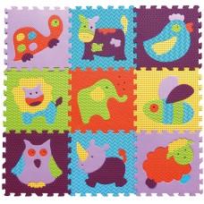 Детский игровой коврик - пазл «Веселый зоопарк» GB-M129А2