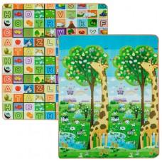 Детский двусторонний термоковрик Limpopo Большая жирафа и