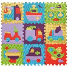 Детский игровой коврик-пазл «Быстрый транспорт» GB-M129V2