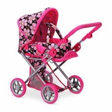 Детская коляска 2 в 1 с люлькой «Mary» , цветочная 9346FL