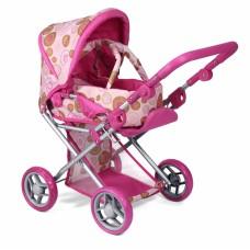 Детская коляска 2 в 1 с люлькой «Mary», розовая 9346P TODS