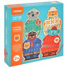 Детская игра-шнуровка Mideer - Животные, 8 частей MD3085