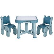 Детский функциональный столик Poppet Монохром и два стульч