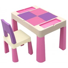 Детский многофункциональный столик Poppet Колор Пинк 5 в 1