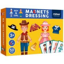 """Магнитная книга-игра """"Одежда для мальчиков и девочек"""", 50 частей Mideer MD1039"""