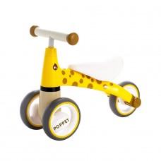 Детский трёхколёсный беговел POPPET «Жираф Лори», желто-ко