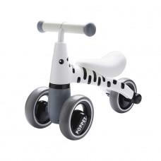 Детский трёхколёсный беговел POPPET «Зебра Бэлли», бело-чё